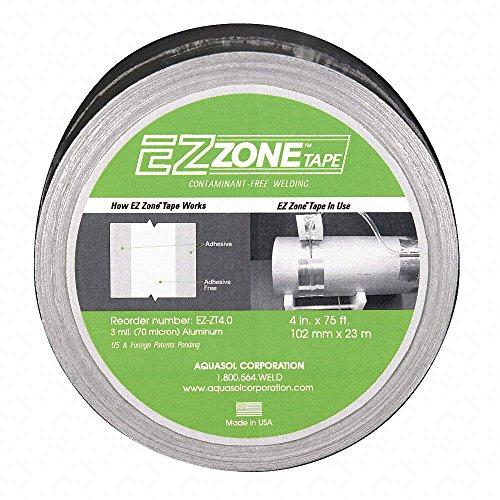"Aquasol EZ-ZT4.0 EZ Zone Tape, 4"" Wide, 2"" Adhesive Free ""Zo"