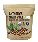 Anthony's Organic Whole Cloves (1lb), Gluten Free, Non-Irradiated, Non-GMO