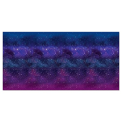 Starry Night Scene - Beistle 59935 Galaxy Backdrop, 4' x