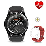 Smart Watch Waterproof, Ranipobo Bluetooth Fitness Tracker with Heart Rate Monitor, Sleep Monitor, Step Calories Tracker, Alarm Clock, Call/SNS/SMS Reminder 3 Modes Wrist Watch for Android&IOS (Black)
