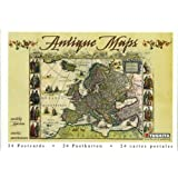 Antique Maps Postcard Book by Tushita
