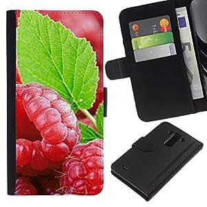 Ihec-Tech / Flip PU Cuero Cover Case para LG Optimus G3 - Fruit Fresh Mint
