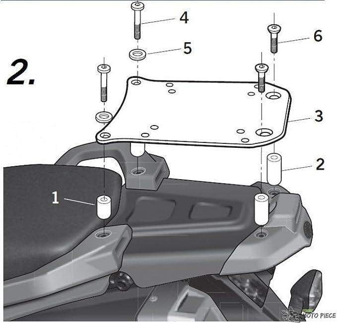 Black SHAD Y0XT15ST Top Case Fitting Kit for Yamaha XT125 R//X