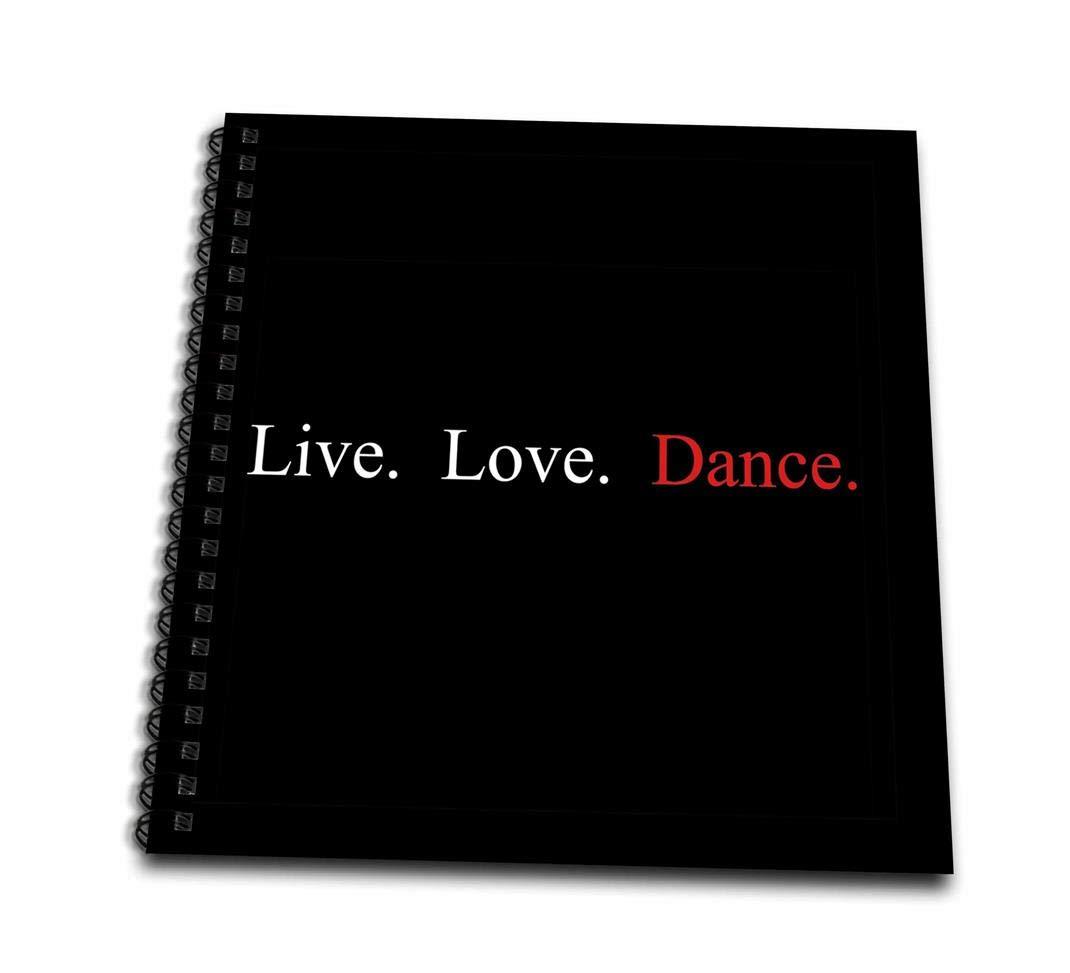 3D Rose db_16960_2 3dRose Live, Love, Dance-Memory Book 12インチ (2), 12インチ x 12インチ B00BK16K3Y