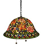 Warehouse of Tiffany's ES-93 Southern Belle Rose Hanging Lamp - 18