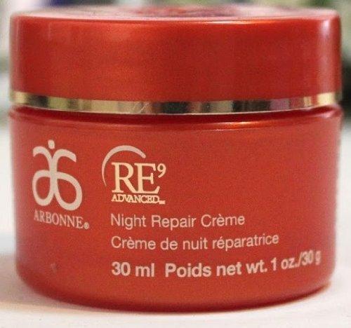 Arbonne Re9 Advanced Night Repair Crème, 815, Net wt. 1oz/30g/30ml