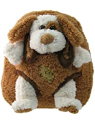 Brown Puppy Plush Kids Animal Backpack