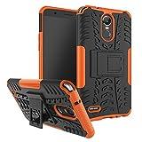 LG Stylus 3 Case, SsHhUu Tough Heavy Duty Shock Proof Defender Cover Dual Layer Armor Combo Protective Hard Case Cover for LG Stylus 3 / LG Stylo 3 / LG K10 Pro / LS777 (5.7 Inch) Orange
