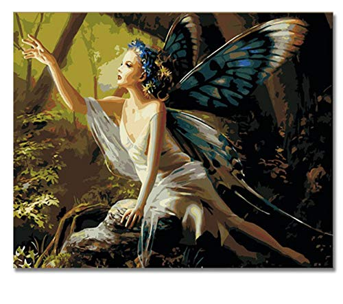 1000 Piece Jigsaw Puzzles for Kids Girl Angel Butterfly DIY Arts Style Flower Fairy Pictures for Living Room Toys Fun Games Wood Educational Explore Creativity and Problem Solving ()