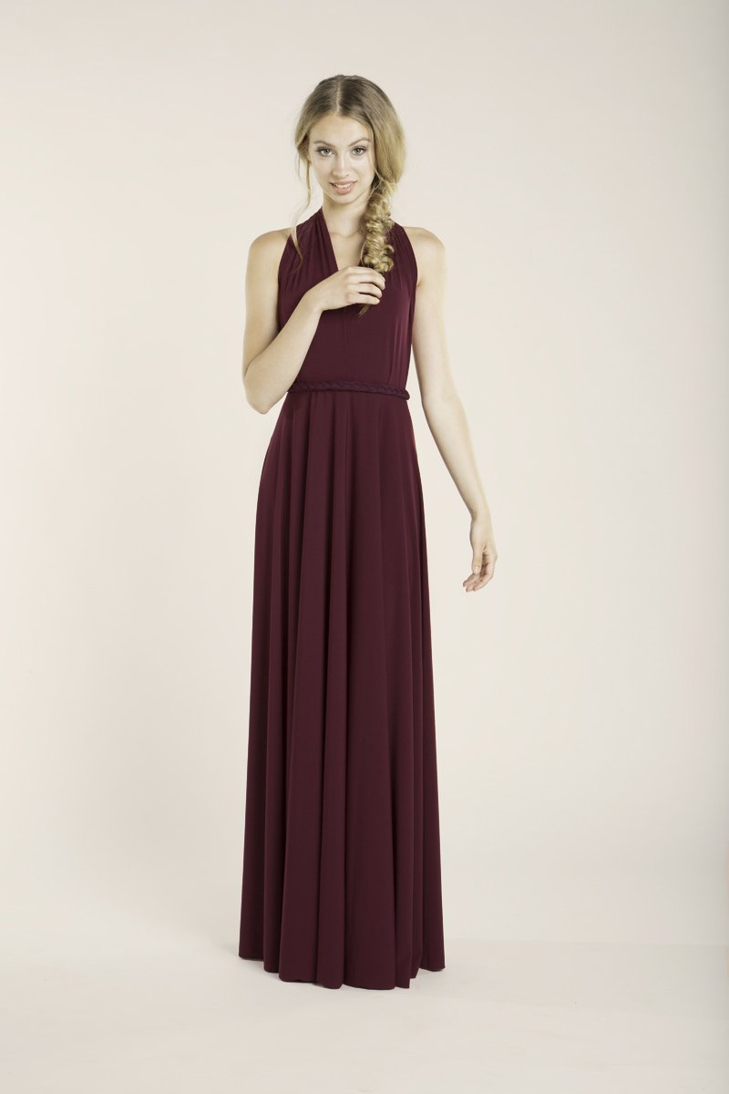 Amazon.com: Prom dress, Burgundy long dress, floor length infininty dress, long party dress, marsala dress, versatile dress, prom dresses, maxi dresses: ...