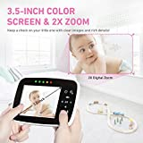 Video Baby Monitor with 3.5 inch LCD Screen Display Infant Night Vision Camera,Two Way Audio,Temperature Sensor,ECO Mode,Lullabies and Long Transmission Range