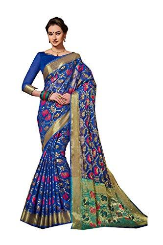 Da Facioun Indian Sarees For Women Wedding Designer Party Wear Traditional Blue Saree. by Da Facioun