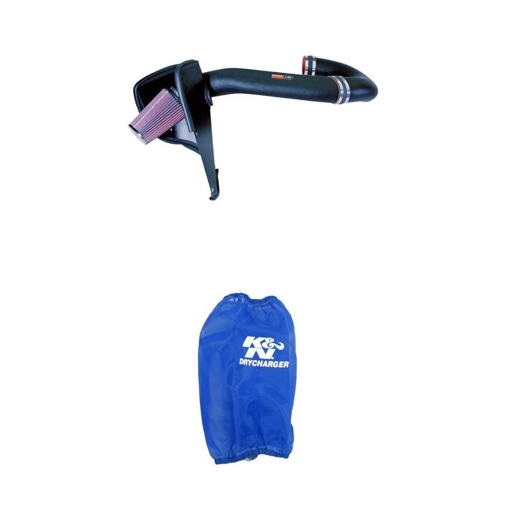 K/&N 57-1507 Performance Air Intake System with Blue Air Filter Wrap