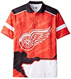 NHL  Detroit Red Wings Polyester Thematic Polo Shirt, X-Large