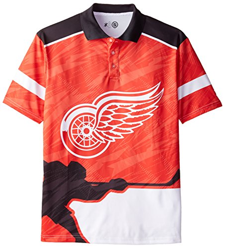 NHL  Detroit Red Wings Polyester Thematic Polo Shirt, X-Large by FOCO