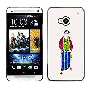 PC/Aluminum Funda Carcasa protectora para HTC One M7 Cool Middle Ages / JUSTGO PHONE PROTECTOR