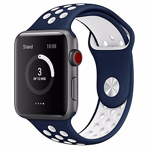 Guccis New Collection - Casual Accessories for Apple Watch. Design Nike Apple Watch Band 42 mm Blue/White. Sport Watch Band for iWatch Series 3/2 / 1. Sports Nike Watch Band 42 mm for Men and Women