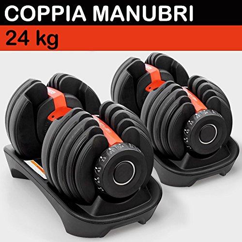 8 opinioni per Timebreak Coppia Set manubri a carico variabile da 24 o 40 kg