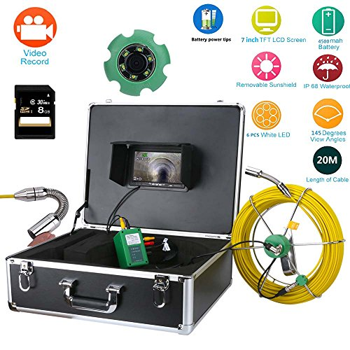Ennio 20m Sewer Waterproof Camera Pipe Pipeline Drain Inspection System 7