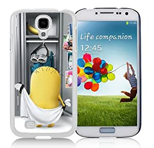 Hot Sell minion White Samsung Galaxy S4 I9500 Protective Phone Case