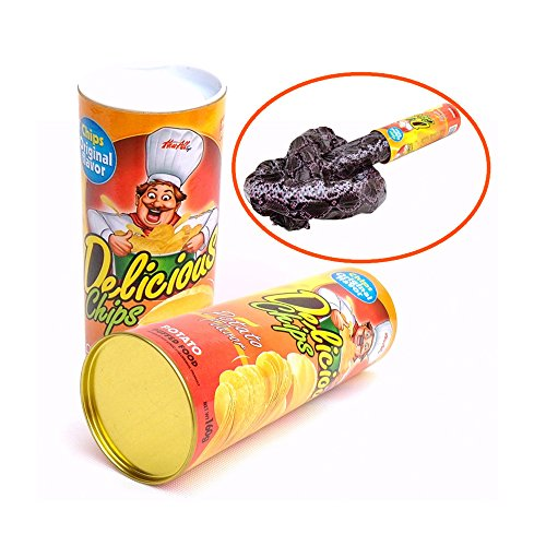 Toonol Halloween Scary Snake Toys Funny Potato Chips Can Trick Novelty Horror Snake Toys Tricky Toys Game April Fools's Day 135cm]()