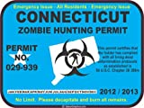 Connecticut zombie hunting permit decal bumper sticker
