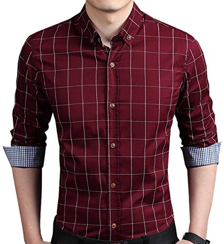 Plaid Button Down Shirt - 7
