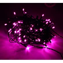 STARSHINE 31V Safety Low Voltage,10M/33FT 100 LED 8 Modes Fairy String Light with Tail Plug for Christmas, Wedding, Party, Garden, Home, Indoor, Outdoor and Bedroom Decorative (Pink)
