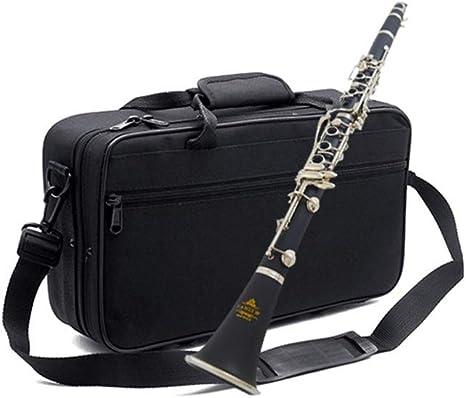 Miiliedy B-flat Clarinete de baquelita de 17 teclas Principiante Ejercicio Profesional Tocar el clarinete Melodioso instrumento musical de sonido dulce con estuche, grasa para juntas, paño de limpieza: Amazon.es: Instrumentos musicales