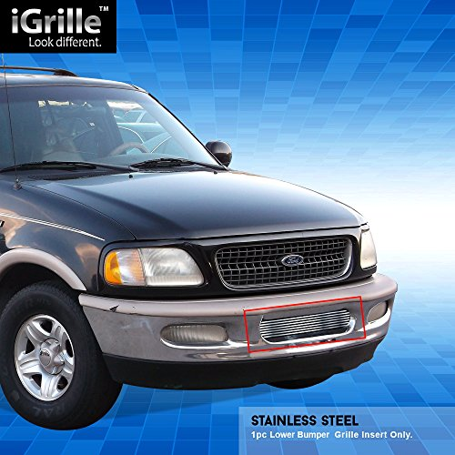 Off Roader eGrille Fit 97-98 Ford F-150 4WD/Expedition Bumper Stainless Steel Billet Grille ()