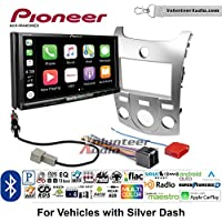 Volunteer Audio Pioneer AVH-W4400NEX Double Din Radio Install Kit with Wireless Apple CarPlay, Android Auto, Bluetooth Fits 2011-2013 Kia Forte (Silver)