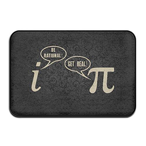 JFD Funny Pi Geek Math Nerd Mathlete Joke Non-Skid Door Mat - Timberlake Justin Nerd
