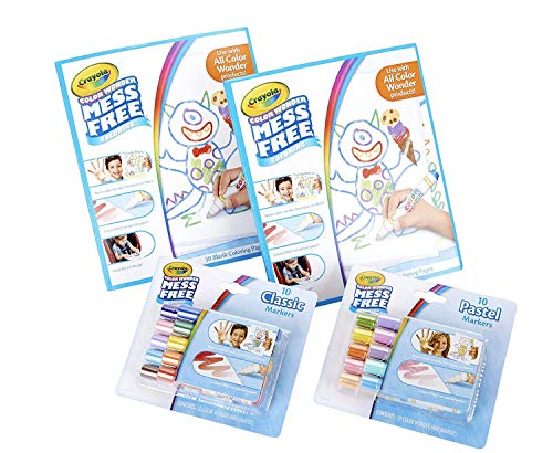 Crayola Color Wonder Mess Free Coloring Kit, 80Piece, Toddler Toys, Gift