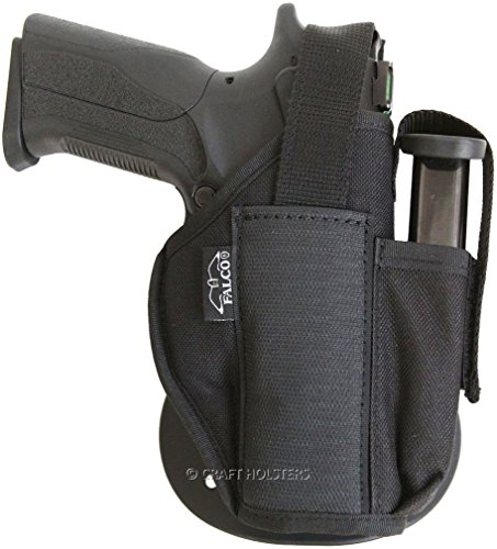 Walther PPK Nylon Paddle Holster with Extra Mag Pouch