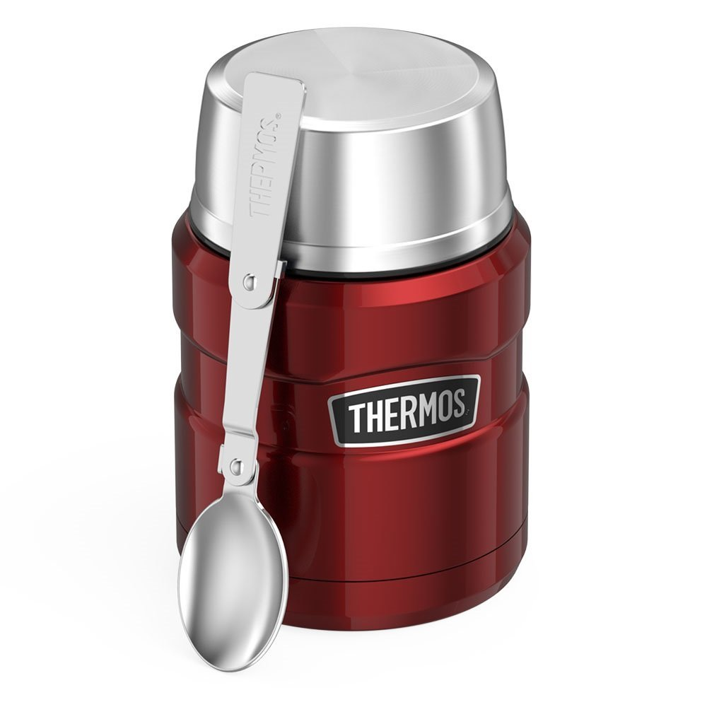 $19.97 ($24.99) THERMOS Stainless King 16 Ounce Food Jar with Folding Spoon, Cranberry