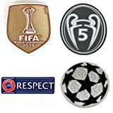 fifa champions patch - BARCA2015 FC Barcelona Patch Set 2015-2016 Soccer Jersey Badges Football Shirt Patches FIFA 2015 Club World Champions, Uefa Champions League Trophy 5 STARBALL