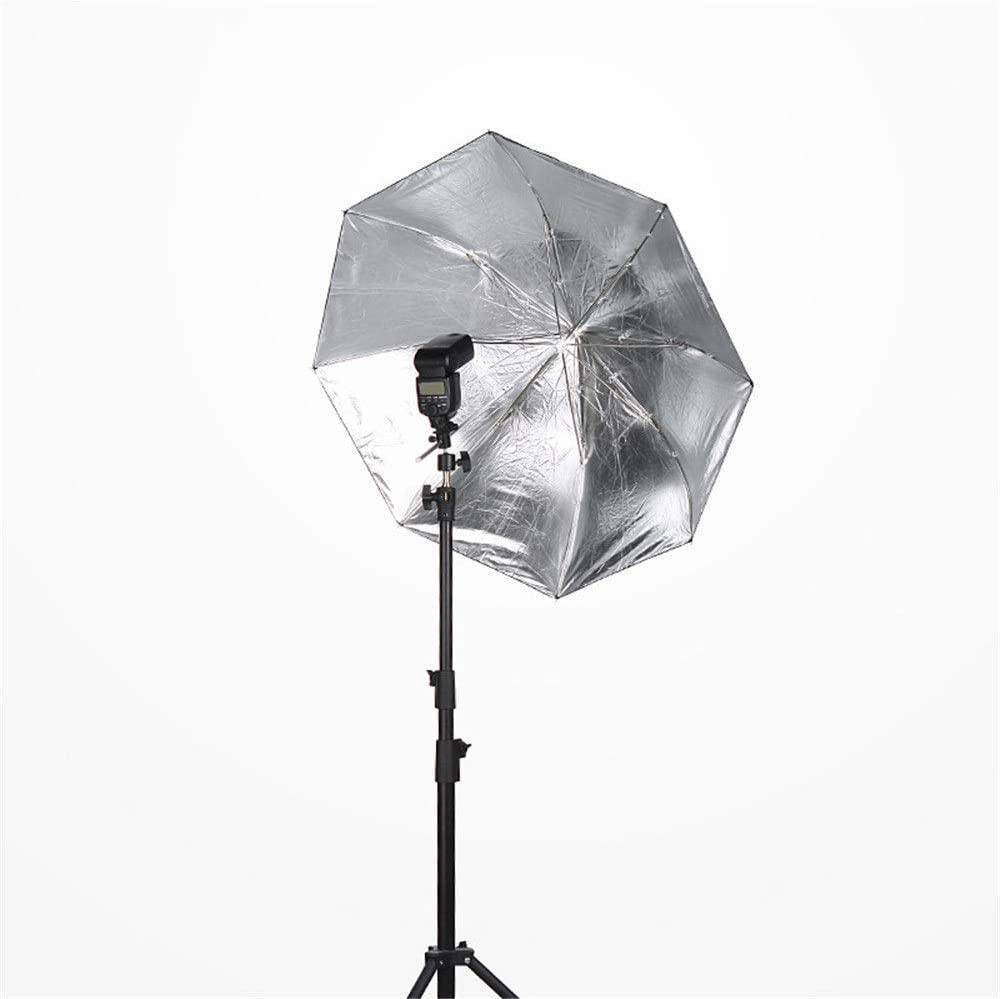 KMCMYBANG Photographic Reflector 36 Inch Two-fold Parabolic Shaped Umbrella Foldable Multi-Disc Light Reflector for Outdoor Portrait Video Recording Black Photographic Light Board
