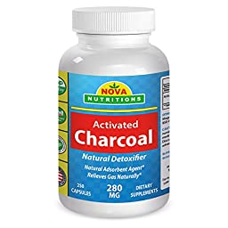 Nova Nutritions Activated Charcoal - 250 Capsule