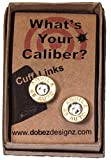 45 Colt Cuff Links Brass Finish with Swarovski Crystals (Aquila)