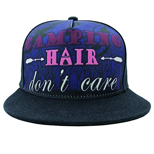 Channel Five Camping Hair Don't Care Snapback Hats for Men Adjustable Fitted Hats Baseball Cap -