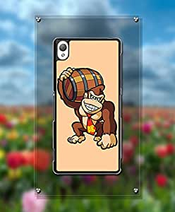 Sony Z3 Funda Case, Cartoon Donkey Kong High Impact Customized Funny Scratch Resistant Durable Vintage Style Back Film Protector Funda Case For Sony Xperia Z3 [Just fit for Z3]