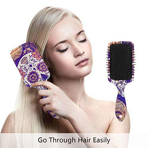 Sugar Skull Dia De Los Muertos Hair Brush,Scalp Massage Hair Comb with Air Cushion ()