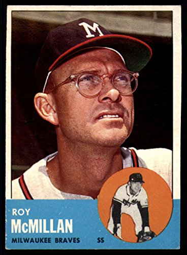 Baseball MLB 1963 Topps #156 Roy McMillan EX/NM Braves