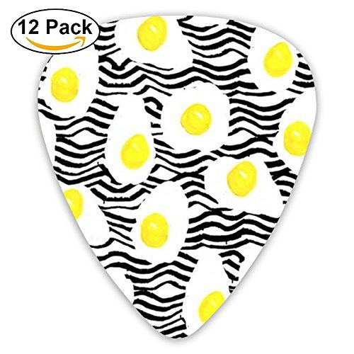 BBcy Heavy Custom Fried Egg Food Celluloid Guitar Accessories/parts Electric Guitar Picks 0.46mm 0.71mm 0.96mm Kids 12 Packs (Sampler Whimsical)