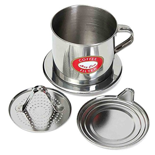 toyofmine 1pc vietnamita de acero inoxidable Cafetera por goteo filtro infusor Set (5,5x 6,5cm