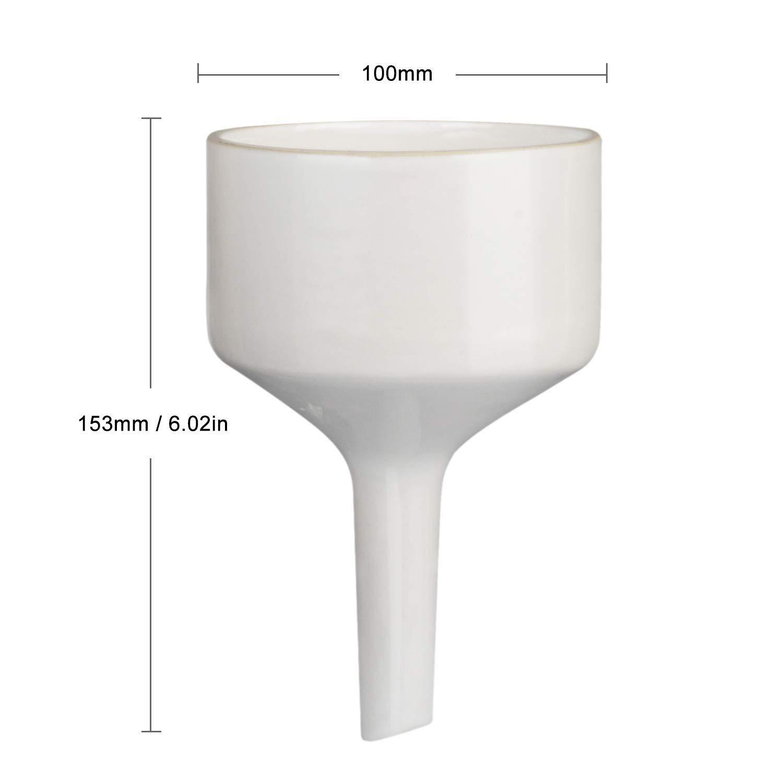 Filtre Entonnoirs en Porcelaine Buchner OD 6cm pour Laboratoire StonyLab Entonnoir Buchner en Porcelaine 60mm
