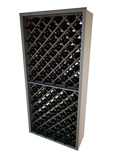 Wine Cellar Innovations DPM-LI-INDDIA-G2_LAQG1-A3 Designer Series Individual Diamond Bin Wine Rack, Prime Mahogany, With Lacquer Finish, Light (Diamond Bin Wine Rack)