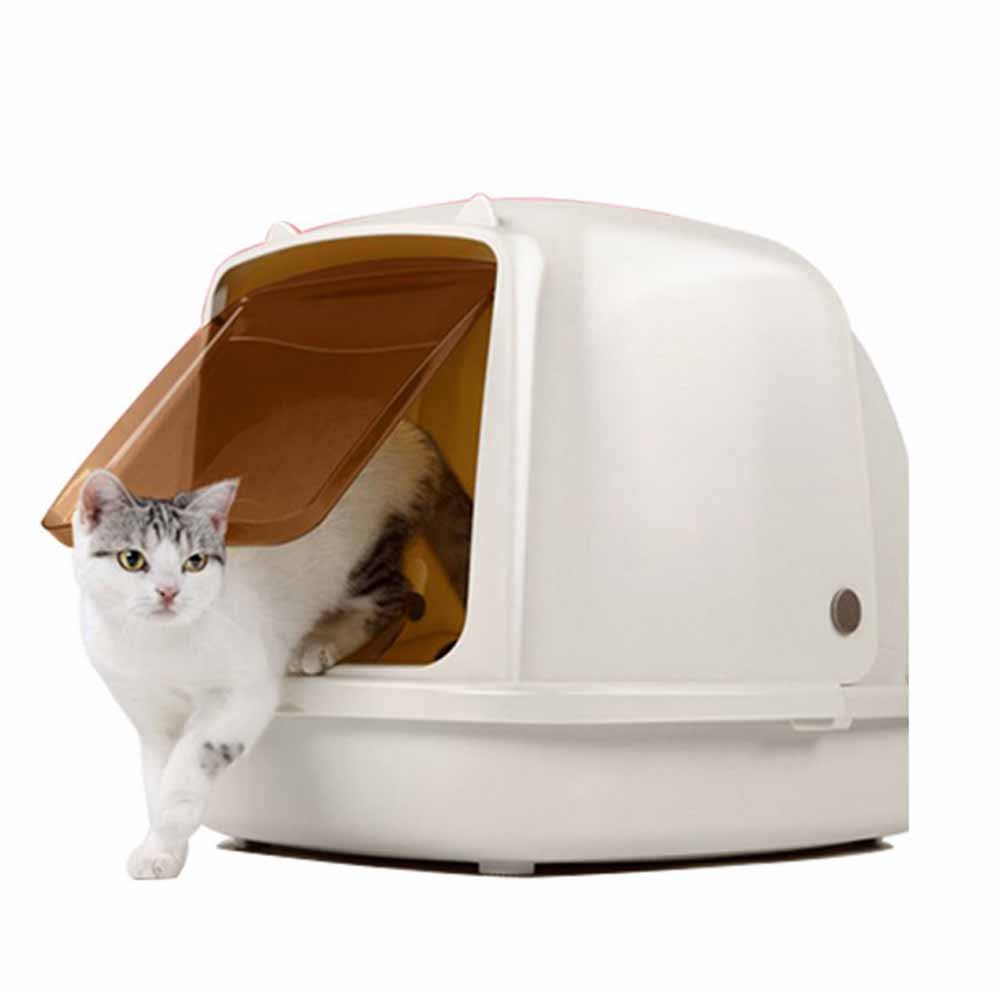 Hooded Cat Litter Box Pet Closed Large Capacity Plastic Durable Cat Toilet Pan