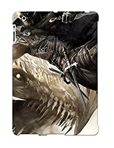 New Snap-on Trinalgrate Skin Case Cover Compatible With Ipad 2/3/4- Guild Wars Game Warrior