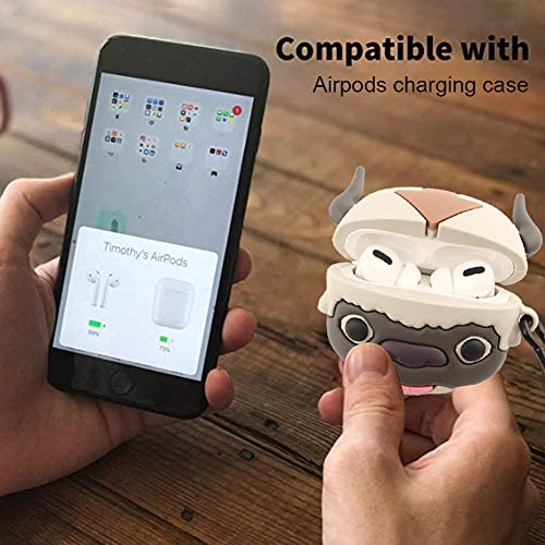 Jozabova Avatar Appa Miyazaki Hayao for AirPods Pro Case, Minions 3D 2 1 Ponyo Cute Cartoon Soft Silicone Protective Cute Airpods Case with Keychain,for Boys Teens Girls (Appa Airpods Pro) 51HV71SK86L
